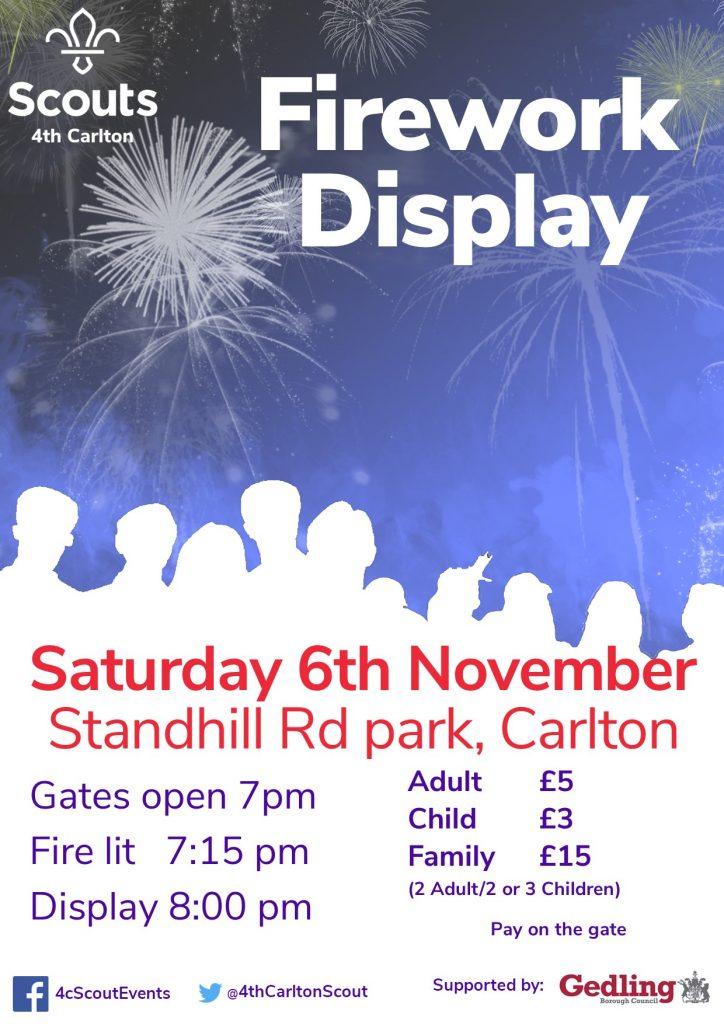poster for bonfire night 6th Nov 2021